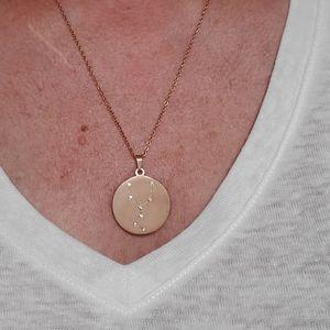 Swarovski Crystal Rose Gold Taurus Necklace.